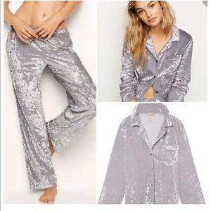 Victoria's Secret Crushed Velvet Pajama Set
